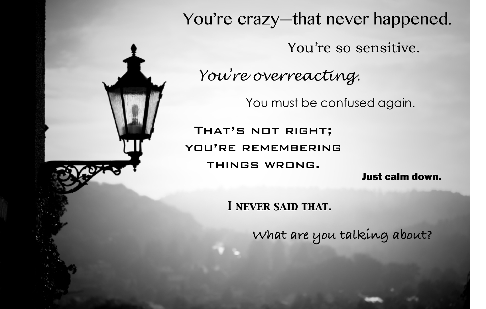 Image result for gaslighting quotes